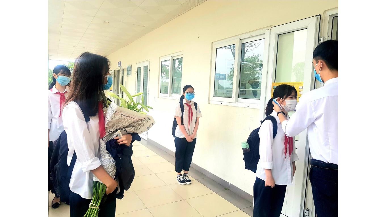 Tuần đầu học sinh Hà Nội trở lại trường: Ứng phó linh hoạt trong phòng dịch và phương thức đào tạo