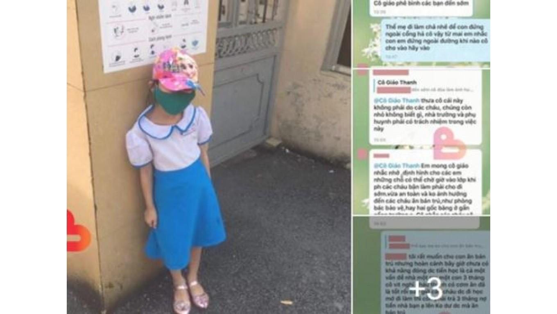 Hải Phòng: Đi học sớm 15 phút, học sinh lớp 1 bị cô giáo phê bình, bắt đứng đợi giữa trời nắng